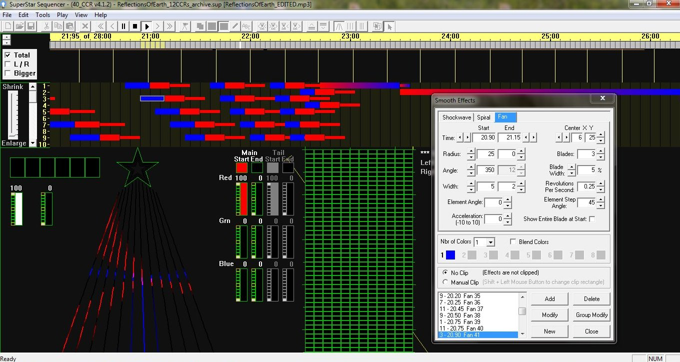 How It Works 25 Light Sequencer Using Xmas Lamps Below Is A Screen Shot Of The Sequence Editor Programming For House And Yard Lights